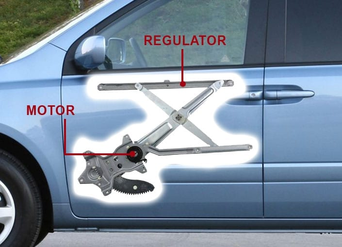 Car Door Window Regulator and Motor & Power Window Repair and Replacement in Mesa Chandler AZ Avondale